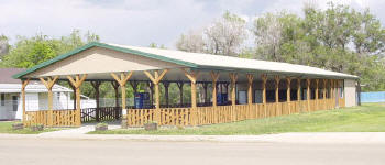 A covered pavilion